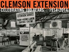 """Clemson College Extension Service"" representation at the South Carolina State Fair, 1947. Image from Clemson University Special Collections. #ClemsonExt100"