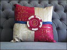 Horse show ribbon pillows