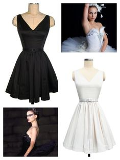 For a matching halloween costume you and a friend could be the black and white swan! Wear the Black Stretch and Antique White Ballerina Dresses! So which are you, the black or white swan?