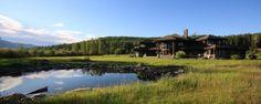 Luxury Log Home Island Estate on Whitefish Lake in NW Montana