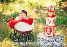 Newborn girl baby - facebook.com/sarahmattixphotographer