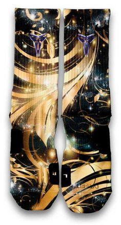Kobe 8 System Elite Gold Nike Custom Elite Socks  Pair the slick and    Kobe 8 Elite Socks Black