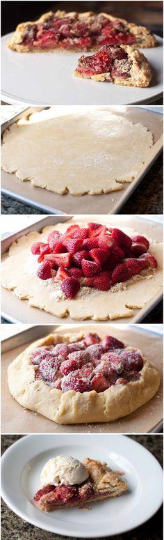 pie, strawberry almond pie filling, strawberry pie, berri pie