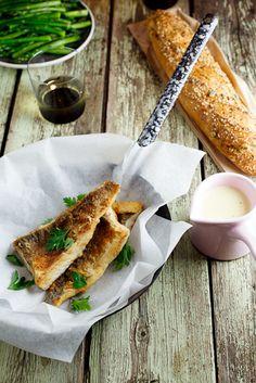 Pan-fried fish with lemon-cream sauce. #Dinner #Recipe #Fish