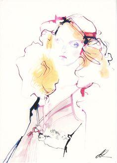 Topshop   David Downton #fashion #Illustration