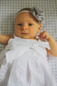 No Sew 5 Minute Baby Headband DIY...forget the headband the dress is absolutely adorable!!!
