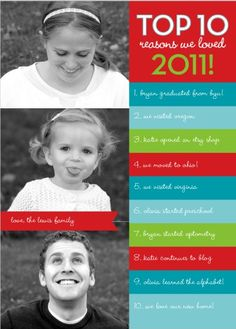 Good idea for Christmas/New Year's card without the newsletter!