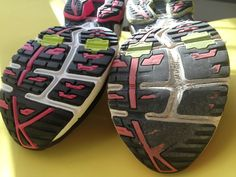 Why it's important to check the bottoms of your shoes (even if you're tracking your mileage).  | via @Harriet Adkins Bottomed Girls #running