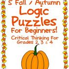I have created 5 logic puzzles that would be appropriate for logic puzzle beginners. They each have a fall/autumn theme. Themes include: squirrels...