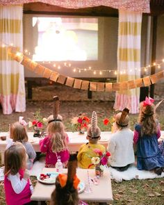 End summer with a movie night in your backyard.