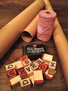 Blog | Junk in the Trunk Kraft paper wrapping with names stamped on instead of tags. Brilliant!