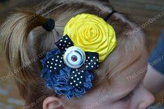 Minion Headband Despicable Me Minion Bow Minion by TheLoopsyDaisy