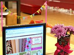 Computer monitor bunting!! Stop it!  I am making this right now!  (ok, in a minute when I'm done looking at bunting)