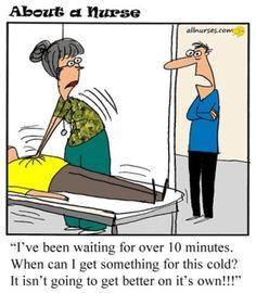 Acute Care/Minor Treatment patients and ED. Jerry King. Find more Nurse Cartoons on MediaMed: http://www.pinterest.com/mediamed/nurse-cartoons/