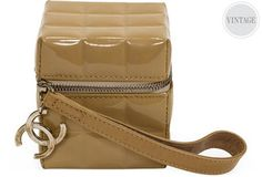 Chanel Patent Leather Cube Wrist Bag  http://www.pooppeepuke.com/2013/08/20/one-kings-lane-chanel/#more-17083
