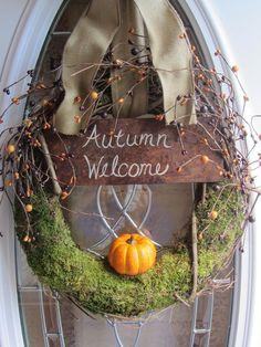 Fall Wreath - Door Wreath - Autumn Wreath - Pumpkin Wreath - Wreath.