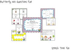 Speech Time Fun: Butterfly WH Questions Fun!! Pinned by SOS Inc. Resources @SOS Inc. Resources.