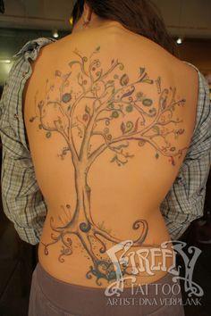 tree tattoo Dina verplank firefly tattoo