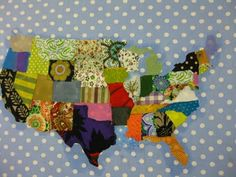 I love scrap fabric maps. Going on the list.