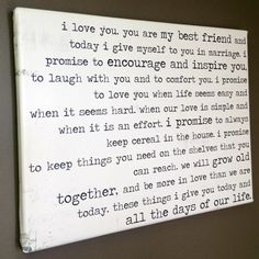 I could do this with your vows