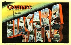 """dollar downloads- great source of """"greetings from..."""" postcard images (downloads) that I LOVE!!"""