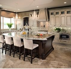 Love All The Tiles In This Kitchen, Everything Ties In Together So Nicely. The Colors Are Perfect. Floors, Backsplash, Cabinets, Countertops, Appliances