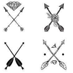 Two Arrows Crossed Tattoos Arrows Crosses, Crossed Arrows Tattoo, Eric Tattoo, Artsy Tattoo, Crosses Tattoo, Tattoo Cr, Crosses Arrows Tattoo, Crossed Arrow Tattoos, Addiction Tattoo