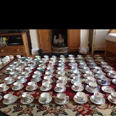 My collection of teacups & saucers