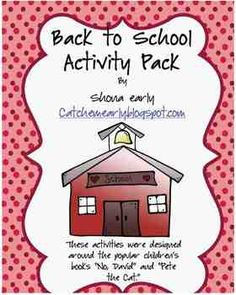 Back to School Activities for 1st grade