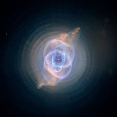 The Cat's Eye Nebula photography. Picture taken with Hubble Telescope