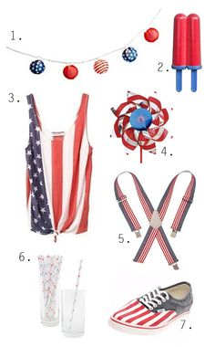 Fishs Eddy red, white, and blue star straws!    Design Muse: You're A Grand 'Ol Flag