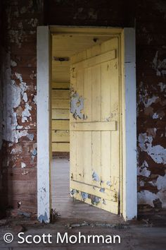 yellow chippy door