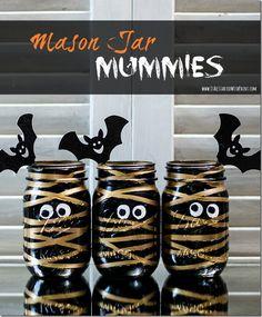 Easy DIY mummy mason jars