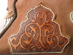 Leather design on bag