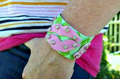 Get ready for a totally gnarly piece of DIY jewelry! The Pucker Up Cuff is a retro revival of the adventurous colors and prints that defined the 1980s.