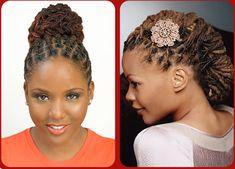 sisterlocks hairstyles | dreadlocks updo | thirstyroots.com: Black Hairstyles and Hair Care