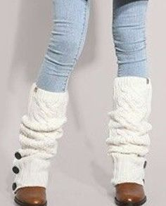 Love me some leg Warmers!  Cute over boots too!