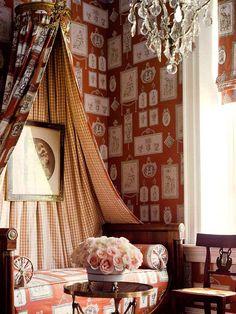 Stroheim & Romann, Neoclassical print wallpaper and fabrics