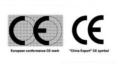 CE, que en principio significan que un producto cumple con las regulaciones de la Comunidad Europea, se trata de un sello de garantía. Pero cuidado, si no te fijas bien y llevas contigo una regla milimétrica puedes encontrarte con productos de China Export que lucen, aparentemente, el sello de la Comunidad Europea, ya que ambos símbolos son idénticos. Solo se diferencian por la casi inapreciable separación entre las dos letras, algo más juntas en el marcado asiático.