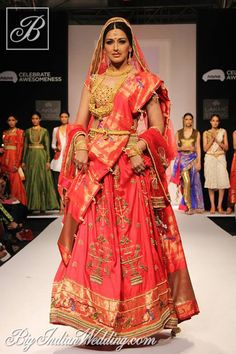 Sonali Bendre for Harshitaa Chatterjee Deshpande at Lakme Fashion Week 2013