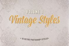 Check out Vintage Photoshop Styles Volume 1 by Design Panoply on Creative Market