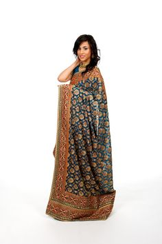 I love thick borders on sarees, and the colors are superb.