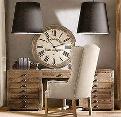 Shades of light has a great oversized barrel drum lampshade and it would look great in the office