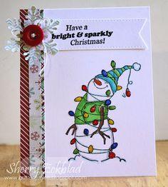 Christmas Sets > Lighted Snowman Set (Sku#4349) Art Impressions.  Christmas holiday card