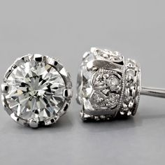 Antique Diamond Earrings. These are stunning I am not usually a fan of regular ear rings with my ears gauged and all but these are to die for