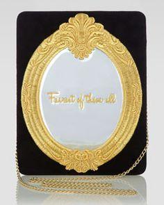 V1P7S Charlotte Olympia Magic Mirror Bag, Black/Gold