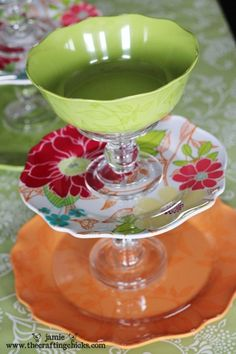 bowl, candlestick holder, treat stand, cake stands, plate, dollar store crafts, diy serv, serving dishes, jewelry holder