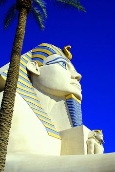 A pristine Sphinx at the Luxor, Las Vegas.  Photo by Jay Tilston