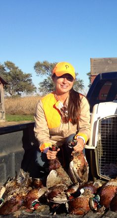 Prois customer Melanie Padgett getting it done! Pheasant, it's what's for dinner. #pheasant #upland #uplandhunting #pheasanthunting #prois #proiswasthere www.proishunting.com