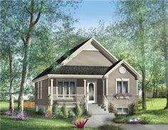 This+house+plan+features+two+sweet+bedrooms.